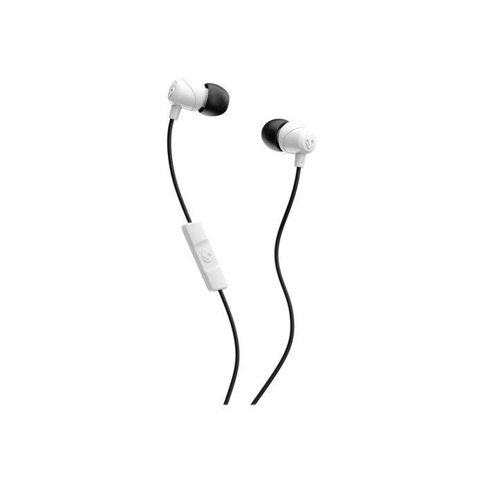 SKULL CANDY Ecouteurs avec micro intra auriculaire filaire jack 3,5 mm - Noir et rose - Suprême Soun