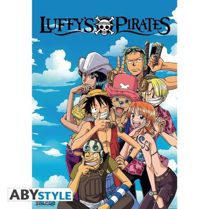 AFFICHE - POSTER Poster One Piece - Luffy's Pirates - 98 x 68 cm