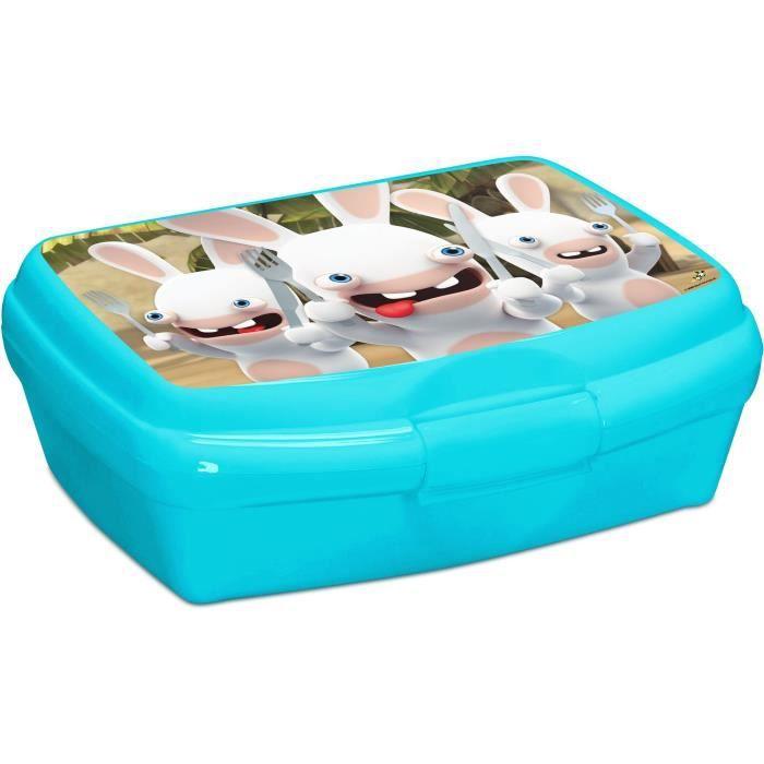 LAPINS CRETINS Boîte à Goûter - 16x14x6 cm - Bleu