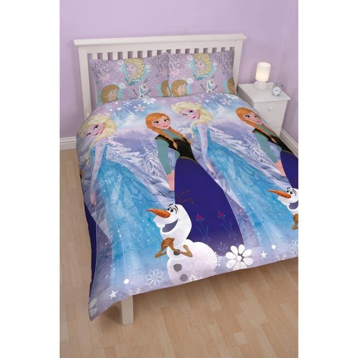 reine des neiges parure de lit réversible 200x200 - achat / vente