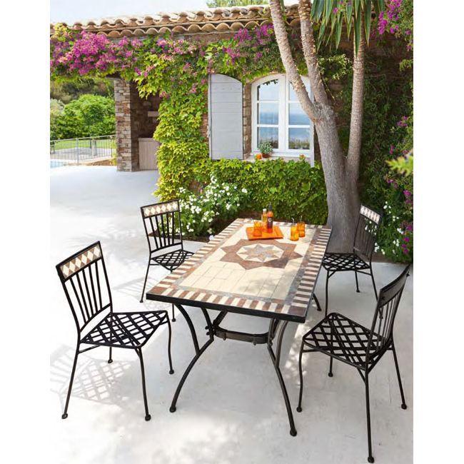Table et chaises de jardin Hespéride BELEM - Achat / Vente salon de ...