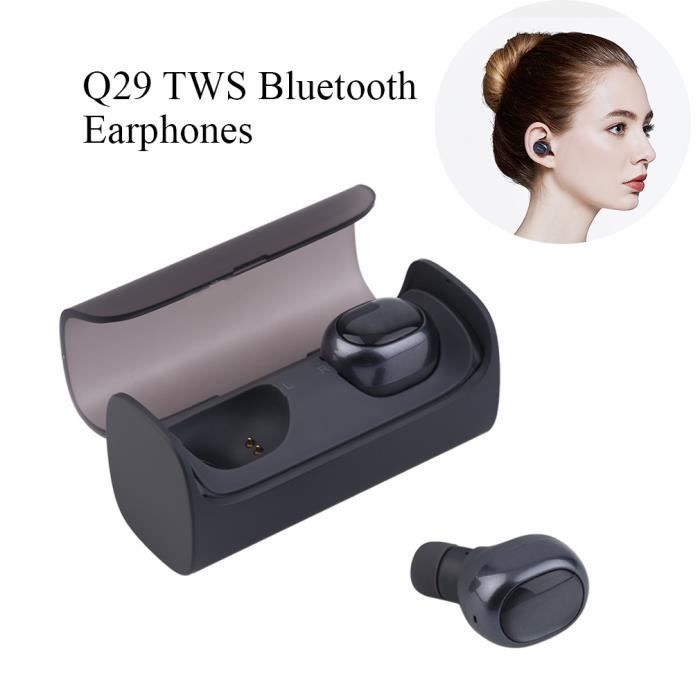 Qcy-q29 Écouteurs Intra-auriculaires Sans Fil Bluetooth 4.1 Ergonomique Bonne Qualité Sonore