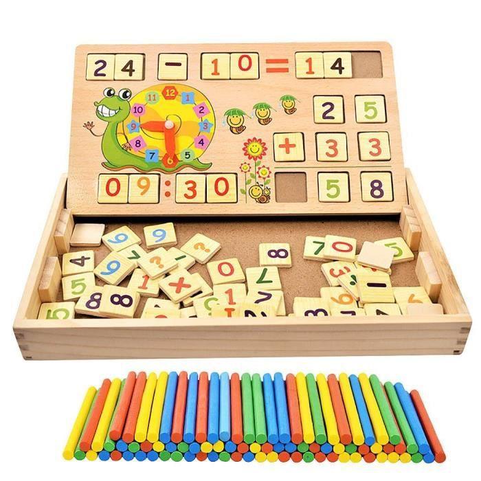 PUZZLE 1pcs Jouets en bois Montessori Math puzzles mathém