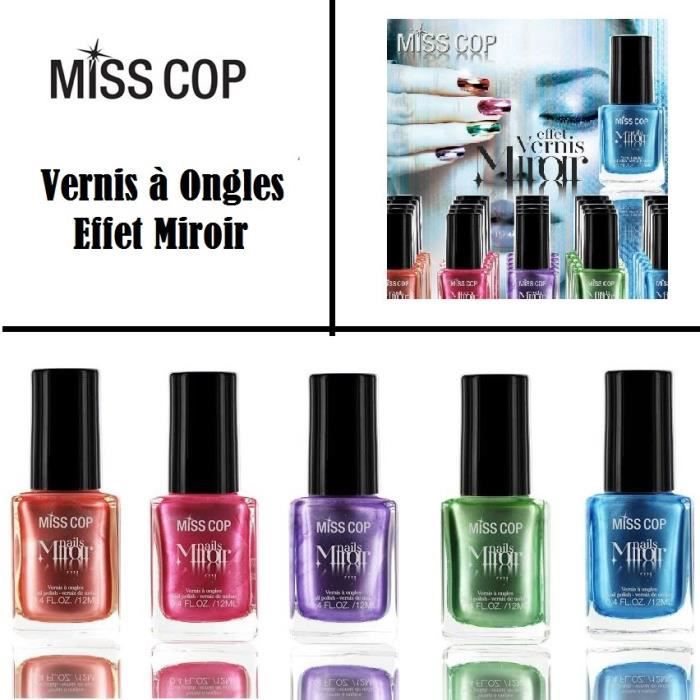 Vernis a ongles violet effet miroir miss cop achat for Vernis a ongle miroir