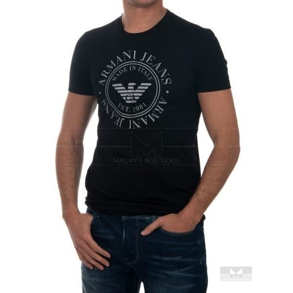 090906b1c4d8 T SHIRT ARMANI JEANS T6H43 NOIR NOIR Noir - Achat   Vente t-shirt ...