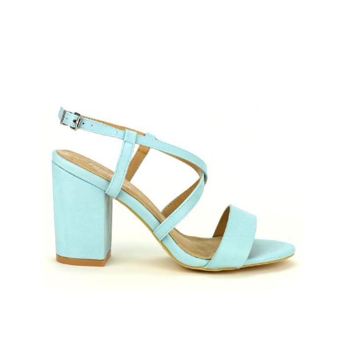 sandale - nu-pieds, Sandales Turquoise Chaussures Femme, Cendriyon