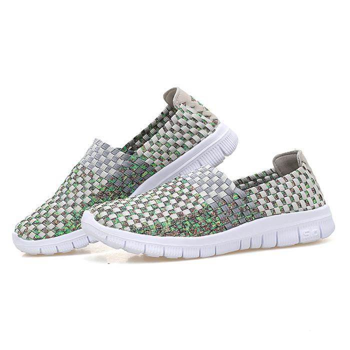 Loafers Femme d'été De Marque De Luxe Meilleure Qualité Loafer Plus De Couleur Confortable Respirant Moccasin Grande Taille 35-40 85LUecOiP3