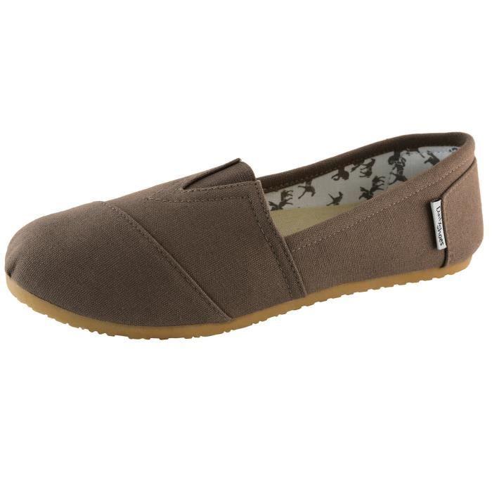 Classique Appartements en mousse à mémoire souple et rembourrée Daily Slip-on Casual Sneaker Chaussures plates H6HM6 Taille-37 1-2