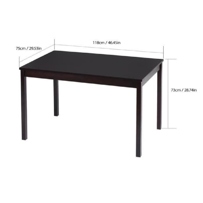 TABLE À MANGER COMPLÈTE iKayaa Table + 4Pcs Chaises en Bois de pin naturel