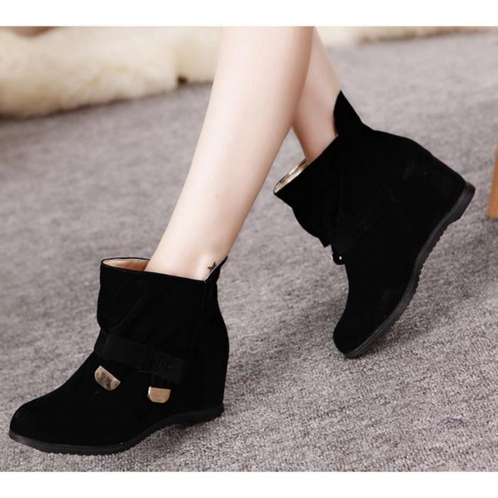 Noir Femmes bowknot Martin bottes bottes courtes.