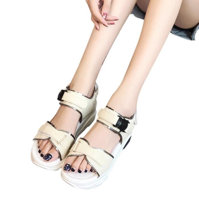Chaussures Talon Med Épais Casual Femme Plateforme Sandales Mode Sport Été 04qOw64R8