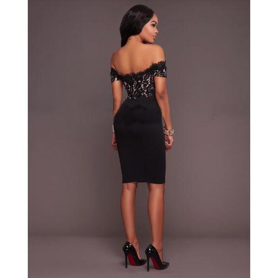 907848f19596d Femme robe de cocktail Sexy robe de soirée courte Vintage Robe Bustier  d'été sans Bretelle Femmes Business Manches Robe clubwear