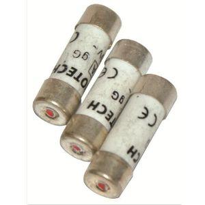 VOLTMAN Pack 3 Fusibles avec voyant de fusion 10,3 x 25,8 mm - 10 A - 230 V