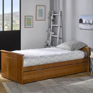 lit gigogne 80x190 achat vente lit gigogne 80x190 pas cher soldes d s le 10 janvier cdiscount. Black Bedroom Furniture Sets. Home Design Ideas