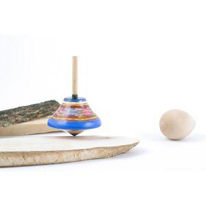 TOUPIE - LANCEUR Jouet toupie avec peinture de couleurs écologiques