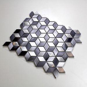 CREDENCE Mosaique aluminium sol et mur crédence et salle de