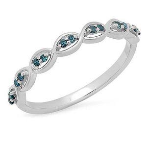 BAGUE - ANNEAU Bague Femme Diamants 0.10 ct 471-1000  Argent Fin