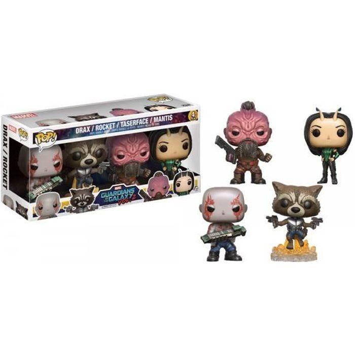 Figurine Funko Pop! Gardiens de la Galaxie Vol 2 Pack de 4 figurines: Drax, Mantis, Rocket et Taserface
