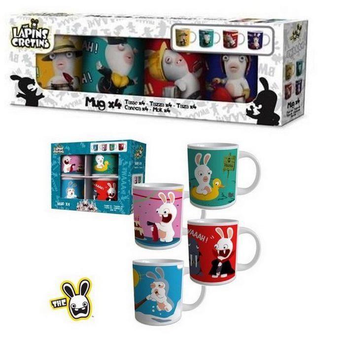 Coffret Mugs Lapins Crétins x 4