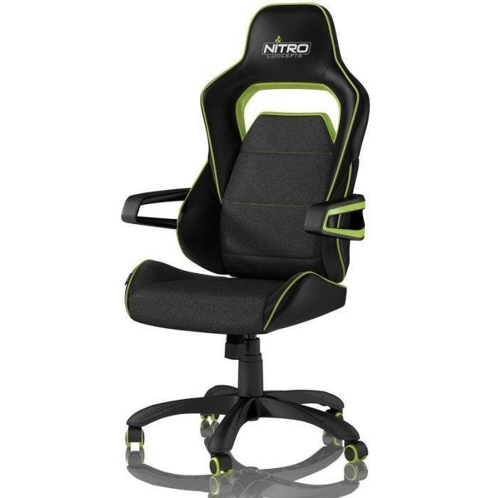 NITRO CONCEPTS Fauteuil Gaming Nitro Concepts E220 Evo - Noir/Vert