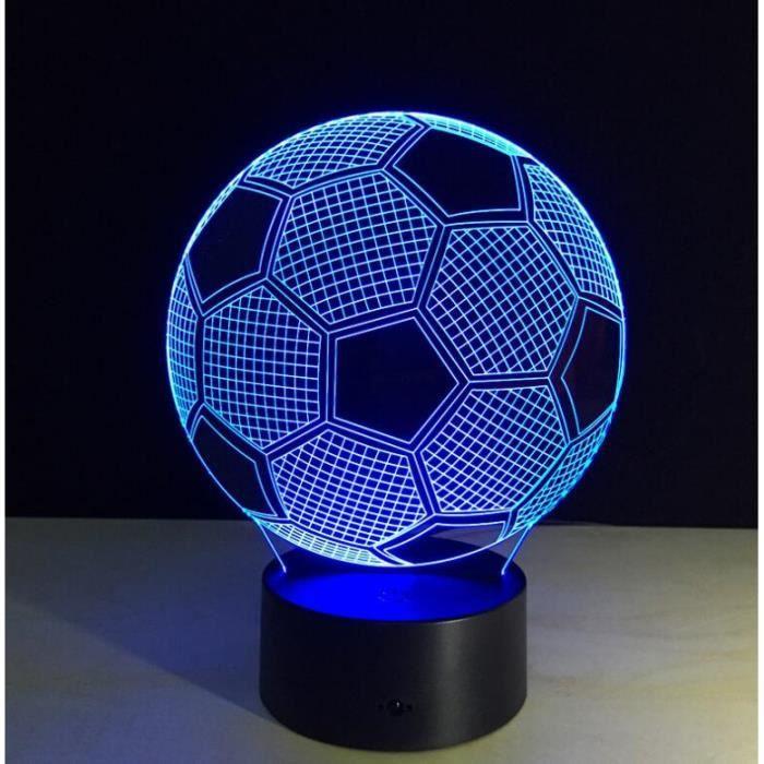 Poser Led 7 3d Lampe Couleurs À Veilleuse Lumière Football mNOy0v8wn