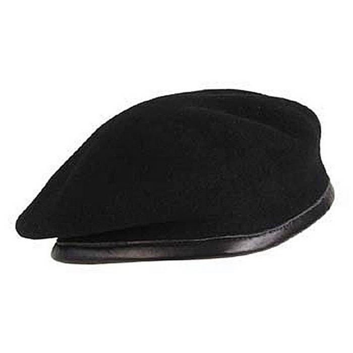 Véritable Béret Militaire Commando Noir Noir - Achat   Vente bonnet ... 2ad3fd9833d