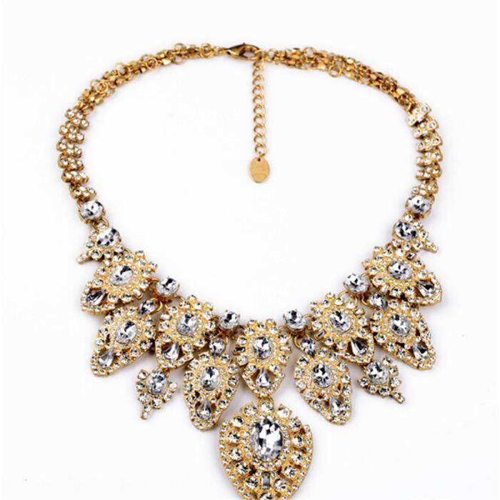 Bien-aimé femme bijoux collier cristal 18K GP luxe - Achat / Vente sautoir  IP32