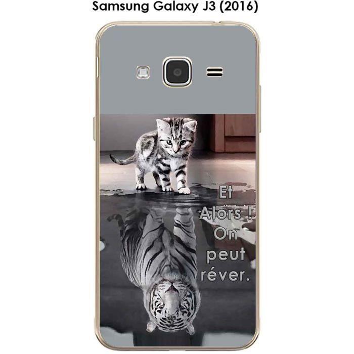 coque samsung galaxy j3 tigre