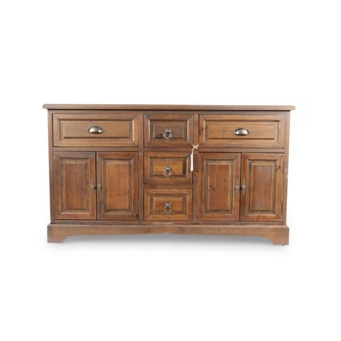 meuble bas rangement bois 5 tiroirs achat vente petit meuble rangement. Black Bedroom Furniture Sets. Home Design Ideas