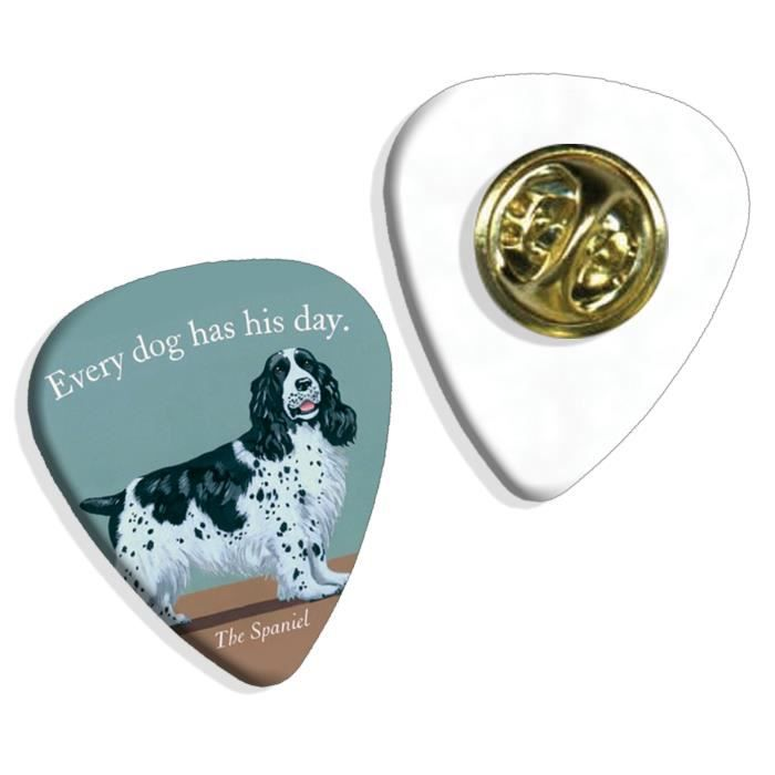 Every Dog Has Its Day Spaniel Martin Wiscombe Insigne de Pick Guitar Vintage Retro