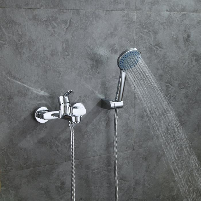 robinet de baignoire avec douchette à mains monocommande bain ... - Robinet De Baignoire Avec Douchette
