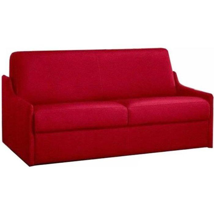 meilleur service 0d8d2 38a71 Canapé lit 3 places LUNA convertible ouverture RAPIDO 140cm, cuir vachette  recyclé rouge
