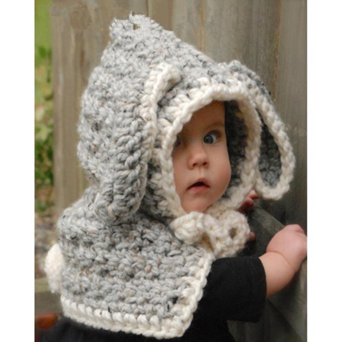 coiffe d 39 hiver chaud chapeaux bonnet avec oreilles d animaux b b enfant  fille gar on 2 5 ans d92782f4ff5