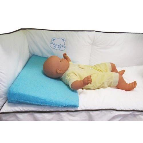 looping cale b b plan inclin en ponge d houssable pour lit b b bleu lagon achat vente. Black Bedroom Furniture Sets. Home Design Ideas