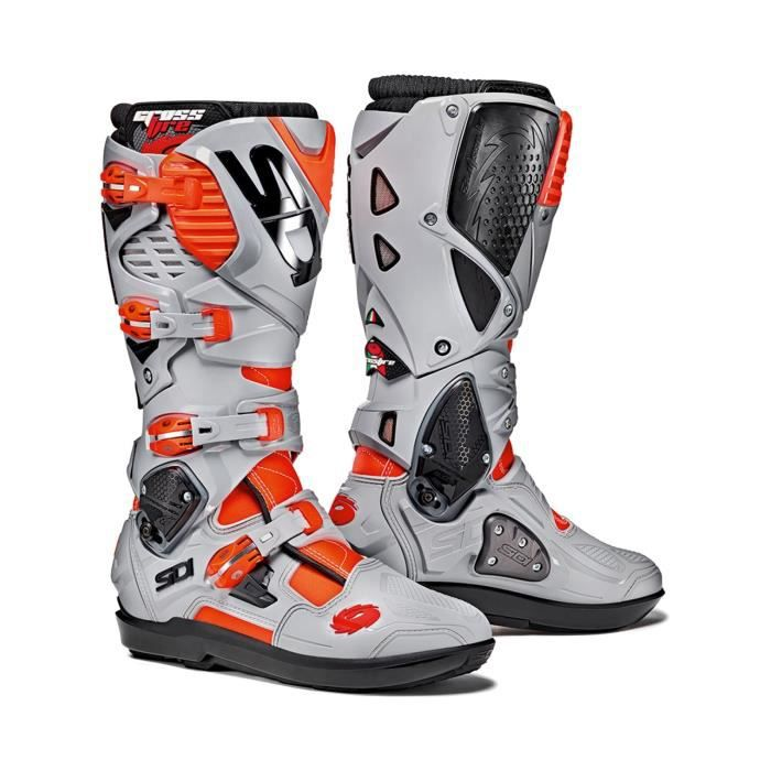 Bottes Motocross Sidi Crossfire 3 SRS Rouge Ash Achat