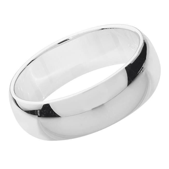 Bague de Mariage-Alliance Homme-Femme 6mm Argent fin 925 42643