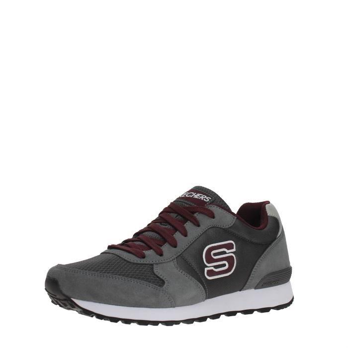 SKECHERS Sneakers Homme GRAY/BURGUNDY, 41