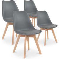 lot de 4 chaises style scandinave catherina gris achat vente chaise gris cdiscount. Black Bedroom Furniture Sets. Home Design Ideas