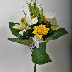 FLOW Bouquet de fleurs artificielles 35 cm jaune