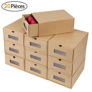 BOITE DE RANGEMENT MVPower 20 PCS Boîte à Chaussures en Papier Epais,