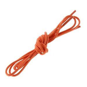 LACET  lacets ronds coton ciré couleur Mandarine: Taille: