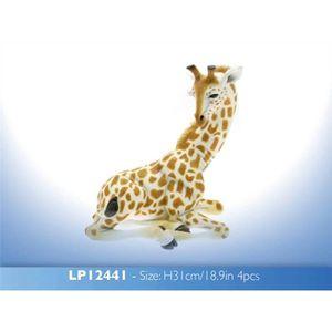 STATUE - STATUETTE Figurine Girafe Assise en céramique Ornement Décor