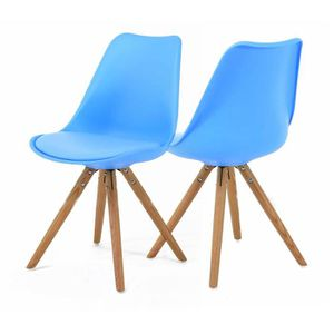 Chaise scandinave bleu achat vente chaise scandinave for Chaise zons