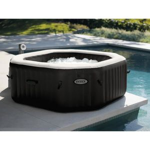 SPA COMPLET - KIT SPA Spa gonflable Intex PureSpa octogonal Bulles + Jet