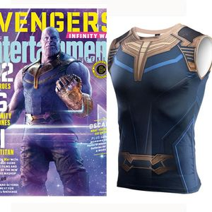 T-SHIRT Avengers: Infinity War Thanos Gilet Vest Mâle Spor
