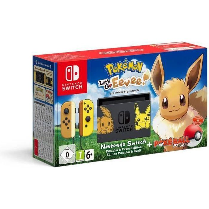 nintendo switch pack let's go pikachu