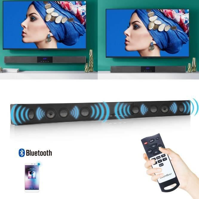 BARRE DE SON Barre de son TV Bluetooth télécommande système de