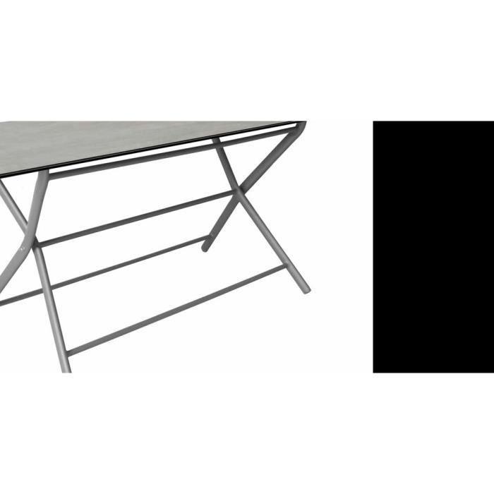 Table pliante en aluminium Azuro 160 cm Taupe Gris