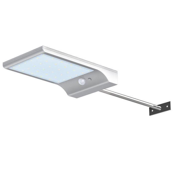 Lampe solaire 36 LED sans fil étanche avec détecteur de mouvement et ...