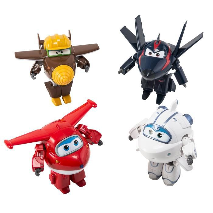 bcaa5fe1d70ae SUPER WINGS Coffret de 4 transforming 12 cm - Jett Astra Agent Chace ...